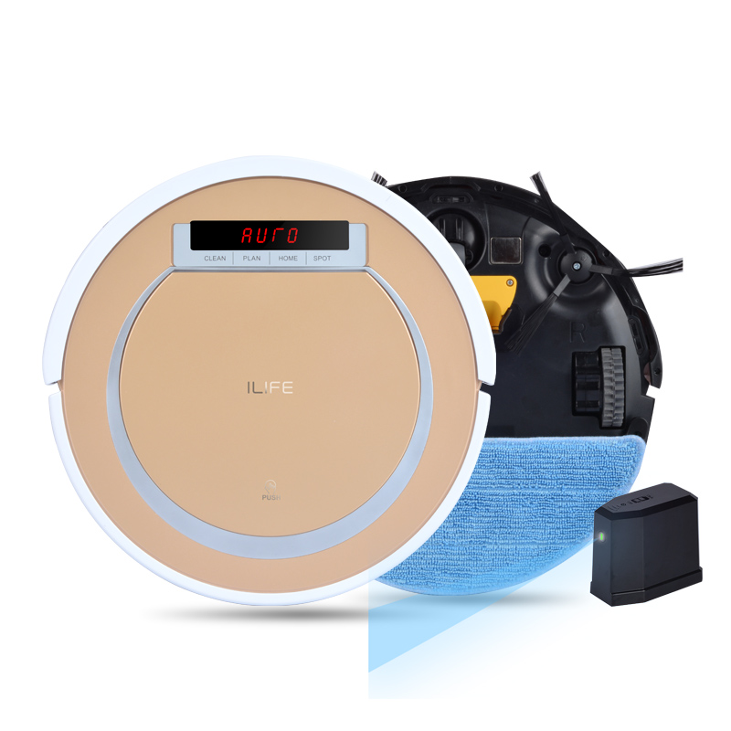ILIFE X5 Smart Robot Vacuum Cleaner for Home Virtual Wall 2 in 1 Dry and Wet 800PA HEPA Cliff Sensor Self Charge ROBOT ASPIRADOR