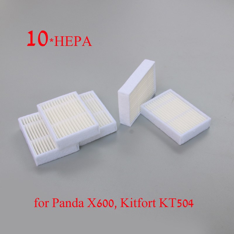 10 * HEPA Фильтр для Panda X600 пэт Kitfort KT504 Робот Робот Пылесос Части