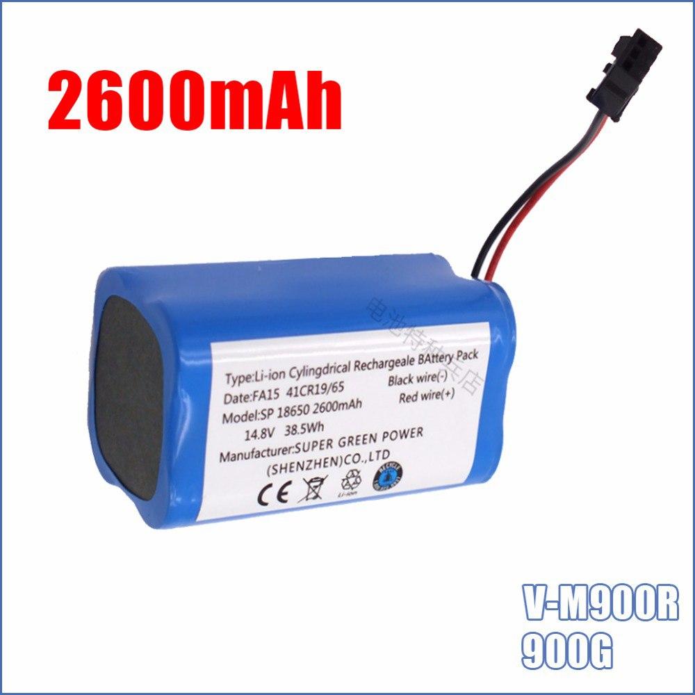 14,8 В 2600 мАч Высокое качество Горячая Распродажа литий-ионный замены Перезаряжаемые Батарея для PUPPYOO V-M900R 900 г робот-пылесос
