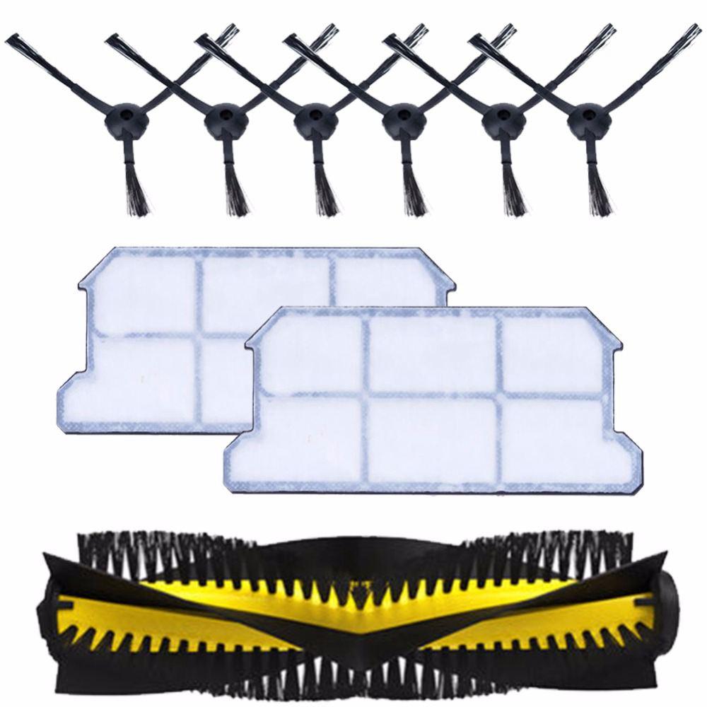 1x основной щетки + 6x боковая щетка + 2x пыли hepa фильтр комплект для chuwi ilife v7 v7s v7s pro робот пылесос части