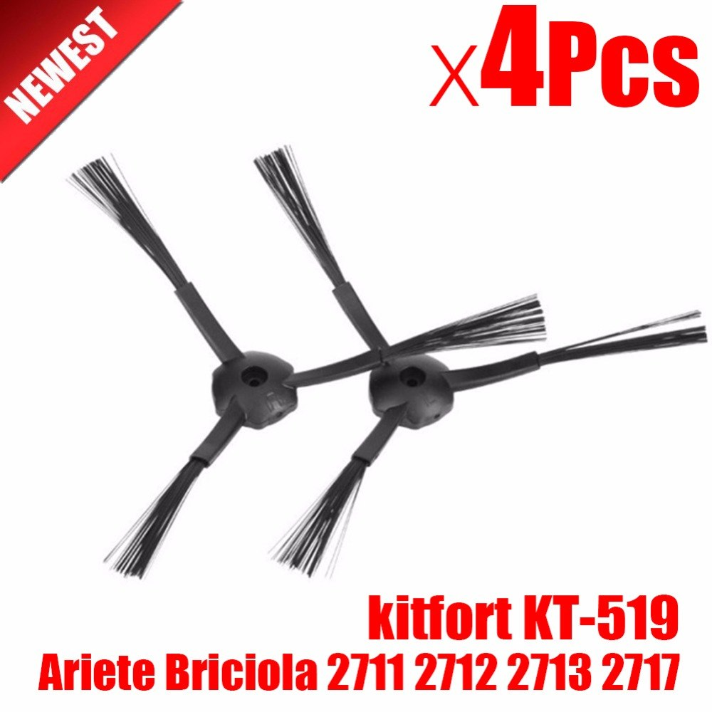 4 шт. сбоку щетка для замены Kitfort 503 Ariete Briciola 2711 2712 2713 2717 ilife v7s робот пылесос робототехника запчасти