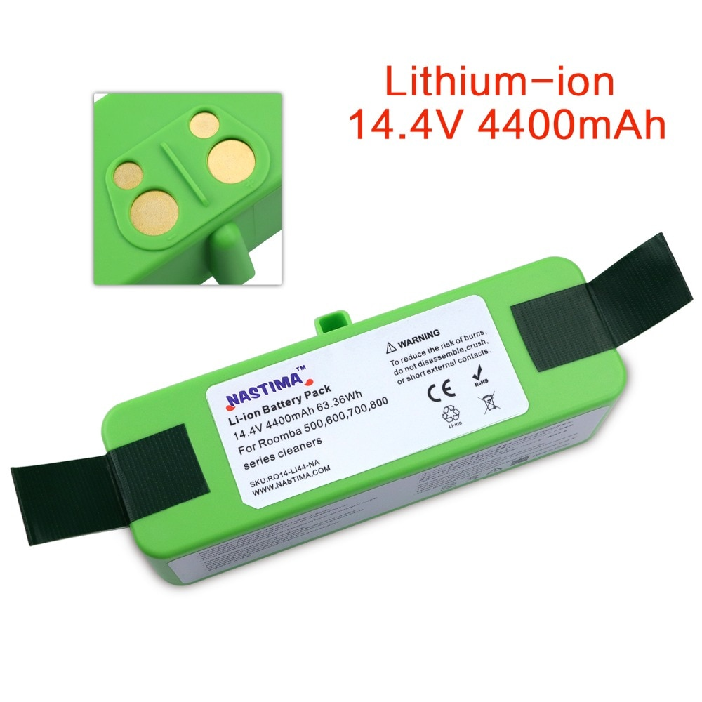 4400mAh Li-ion Battery For iRobot Roomba 500 600 700 800 900 Series Vacuum Cleaner iRobot roomba 600 620 650 700 770 780 800 980
