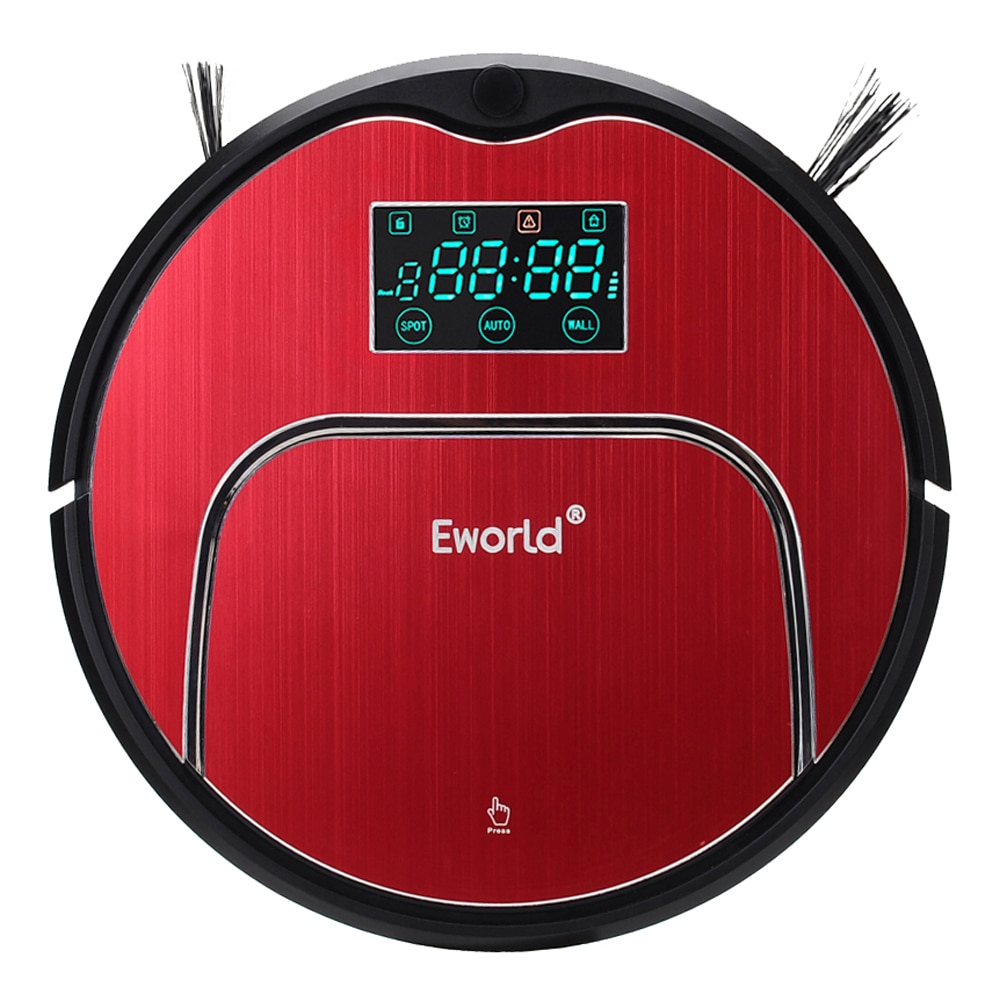 Eworld M883 Clean Robot Vacuum Cleaner Household Vacuum Cleaner With Remote Controller Cleaning Brush and Senser For Clean Floor