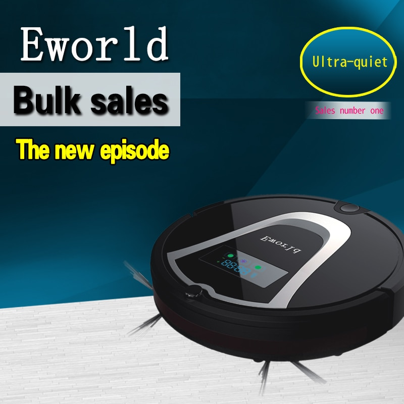 Eworld M884 Cleaning Robot Vacuum Cleaner Cleaner Automatic Vacuum Robot Floor Cleaner for Hardwood Flooring and Hard Carpets