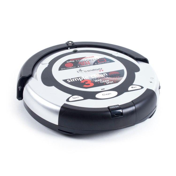 Робот-пылесос Endever SKYROBOT-77 белый/черный 3 режима, виртуальная стена, аккум на 80 мин, пульт ДУ, мягкий бампер